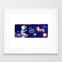 le petit prince Framed Art Prints featuring Le petit prince by LadyAlouette