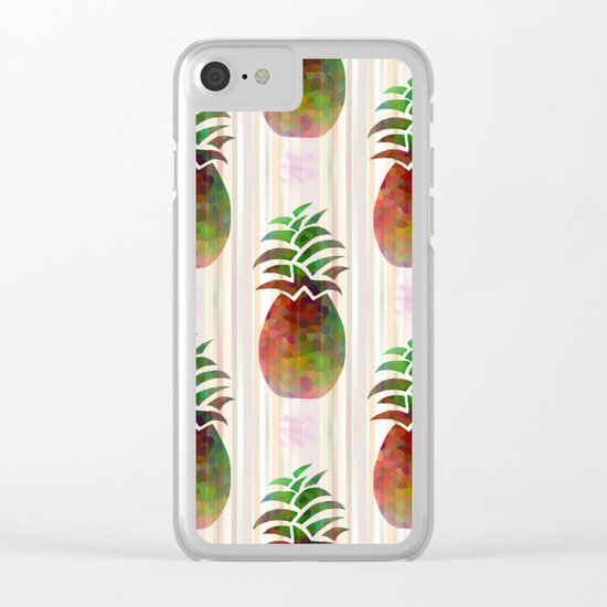 Tropical Pattern Clear iPhone Case