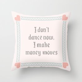 Vintage Inspired Throw Pillow with Rap Lyrics by Cardi B Throw Pillow