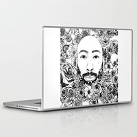 caleb troy Laptop & iPad Skins featuring PHOENIX AND THE FLOWER GIRL PHOENIX TROY FLOWER PRINT by Phoenix and the Flower Girl