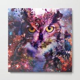 Owl Crack Metal Print