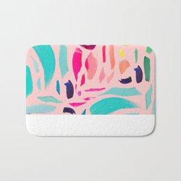 Brush Gems 1 - A deconstructed painting Bath Mat