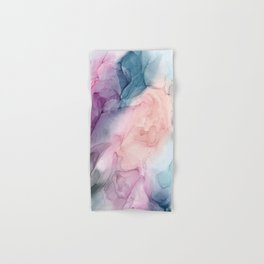 Dark and Pastel Ethereal- Original Fluid Art Painting Hand & Bath Towel