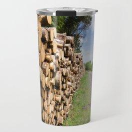 The wood stack Travel Mug