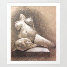 Female, Nude Art Print