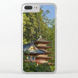 Pagodas (Tō) in Japanese Tea Garden, Golden Gate Park, San Francisco, California Clear iPhone Case