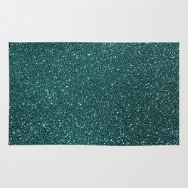 Deep Aqua BlueTurquoise Glitter Rug