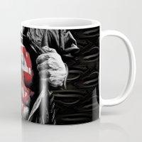 daenerys Mugs featuring Superman Blood Logo by Veylow