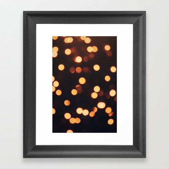 Christmas Lights II Framed Art Print