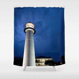 Biloxi Lighthouse and Visitors Center Shower Curtain