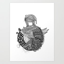 Out of Place - Elephant Art Print