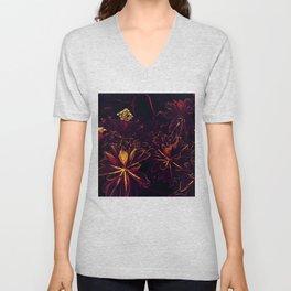 Black Flowers - Underworld Botanic Unisex V-Neck