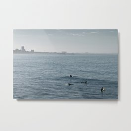 Early Morning Surfer's Bliss Metal Print