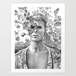 Bowie Goodbye For now Art Print