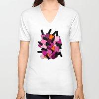 nail polish V-neck T-shirts featuring Nail Polish by ts55