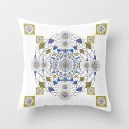 Seventh Seal of Solomon Seed of Life Mandala Throw Pillow