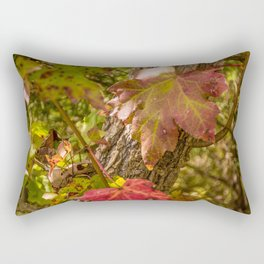 Red Leaves Enchantment Rectangular Pillow