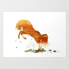 HORSES -Wild mountain pony Art Print