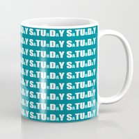 college Mugs featuring college mindset by Jessica Brophy