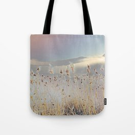 Reeds on Lake Lugano Tote Bag