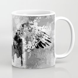Abstract Black and White Eagle collage Coffee Mug