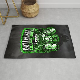 House of Monsters Phantom Frankenstein Dracula classic horror Rug