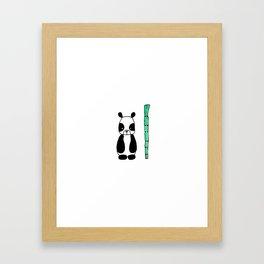 Little Panda Framed Art Print