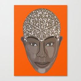 brown visage Canvas Print