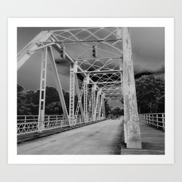 One Tree Hill bridge in black&white Art Print