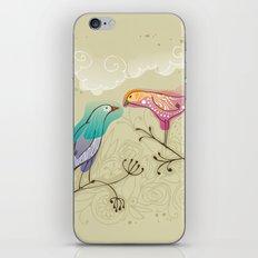 couple of beautiful love birds iPhone Skin