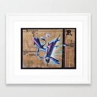 grafitti Framed Art Prints featuring grafitti by Atman Victor
