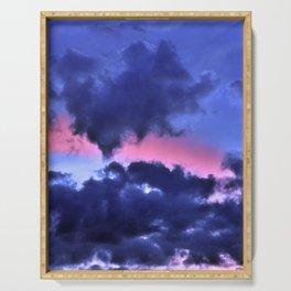 Clouds - Twilight Summer #1 #sunset #decor #art #society6 Serving Tray