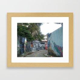 beco do graffiti na vila madalena Framed Art Print