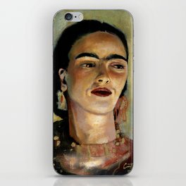 Portrait of Frida the Dove iPhone Skin