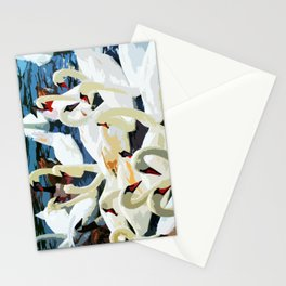 Swans on the Lake Stationery Cards