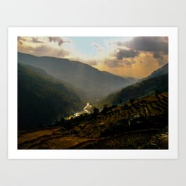 Fertile valley Art Print