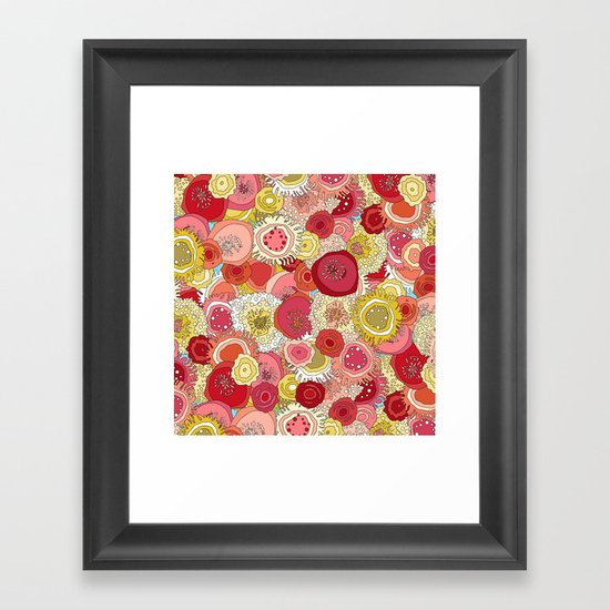 coral garden Framed Art Print
