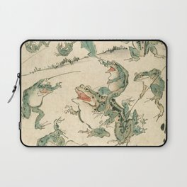 Battle Of The Frogs - Kawanabe Kyosai Laptop Sleeve