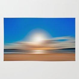 Vibrant Sunset Motion Blur Rug