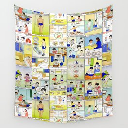 1959 Taiwan Public Health Poster Wall Tapestry