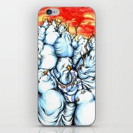 Snowman Apocalypse iPhone Skin
