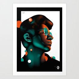 Face Phases 02 Art Print