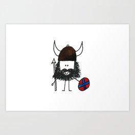 Norsk Viking Art Print