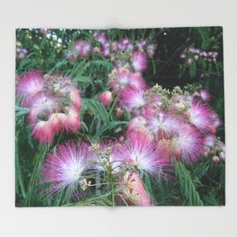 Mimosa Blossoms Throw Blanket