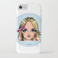 shameless iPhone & iPod Cases featuring Britney Cartoon: Shameless by Eduardo Sanches Morelli