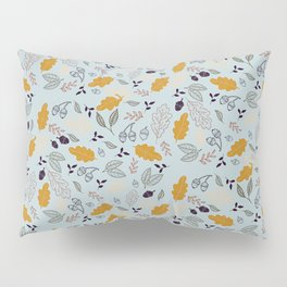 Hand drawn leaves Autumn background Pillow Sham