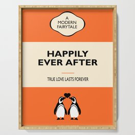 Happily Ever After - Orange Book Cover Serving Tray