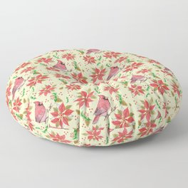 Holiday Cardinal - small pattern Floor Pillow