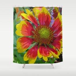 Technicolor Gazania Flower Shower Curtain