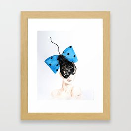 Blue bow head piece Framed Art Print